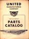 1950 United Parts Catalog cover