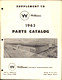1963 Williams Parts Catalog Supplement 1 cover